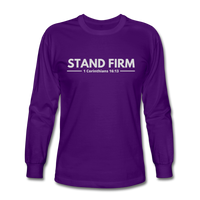Men's Stand Firm Long Sleeve Tee - purple