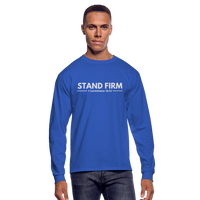 Men's Stand Firm Long Sleeve Tee - royal blue
