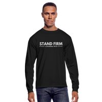 Men's Stand Firm Long Sleeve Tee - black