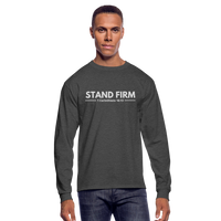Men's Stand Firm Long Sleeve Tee - heather black