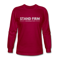 Men's Stand Firm Long Sleeve Tee - dark red