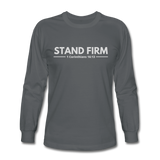 Men's Stand Firm Long Sleeve Tee - charcoal