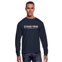 Men's Stand Firm Long Sleeve Tee - navy