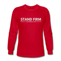 Men's Stand Firm Long Sleeve Tee - red