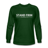 Men's Stand Firm Long Sleeve Tee - forest green