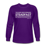 Men's Steadfast Long Sleeve Tee - purple