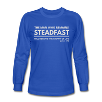 Men's Steadfast Long Sleeve Tee - royal blue