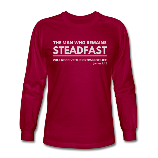Men's Steadfast Long Sleeve Tee - dark red