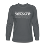 Men's Steadfast Long Sleeve Tee - charcoal