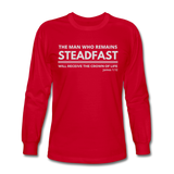 Men's Steadfast Long Sleeve Tee - red