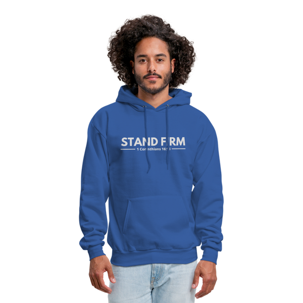 Men's Stand Firm Hoodie - royal blue