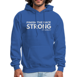 Men's Finish The Race Hoodie - royal blue