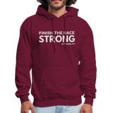Men's Finish The Race Hoodie - burgundy