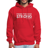 Men's Finish The Race Hoodie - red