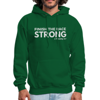 Men's Finish The Race Hoodie - forest green