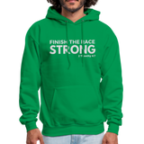 Men's Finish The Race Hoodie - kelly green