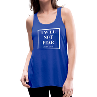 I Will Not Fear Tank - royal blue