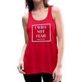I Will Not Fear Tank - red