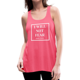I Will Not Fear Tank - neon pink
