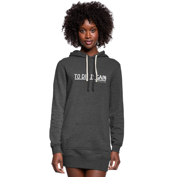 To Die Is Gain Hoodie Dress - heather black