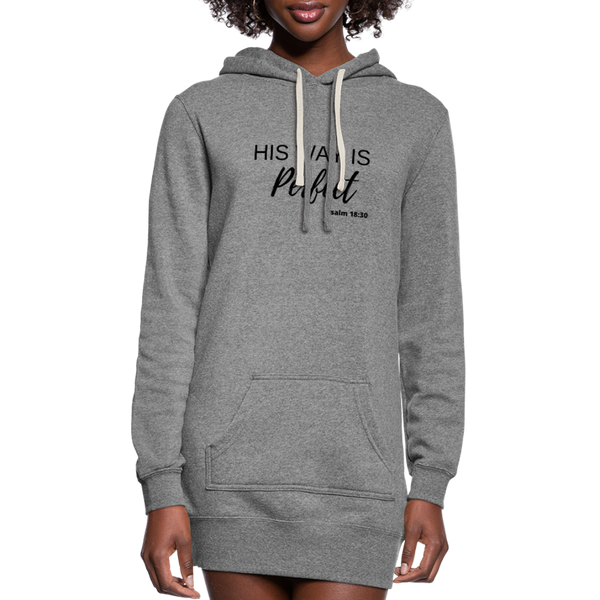His Way is Perfect Hoodie Dress - heather gray