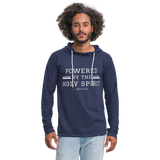 Powered by the Holy Spirit Lightweight Hoodie - heather navy