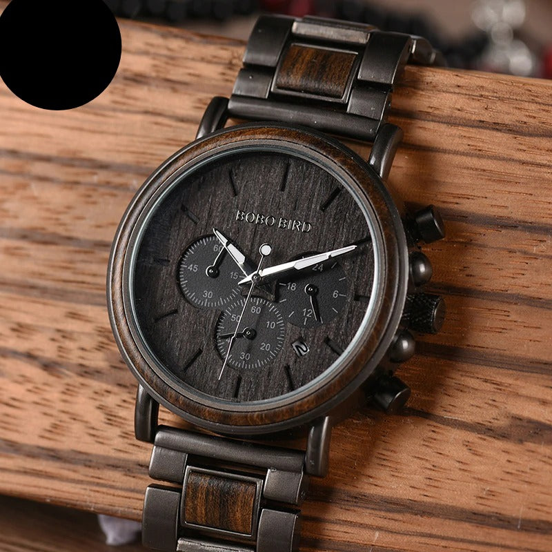 Wooden Mens Watch Luxury Stylish