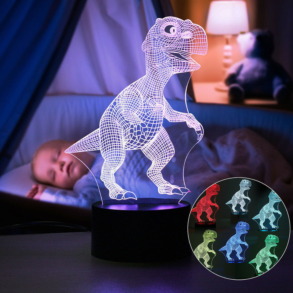 Dinosaur Night light - 3D Dinosaur Light - T Rex Night Light