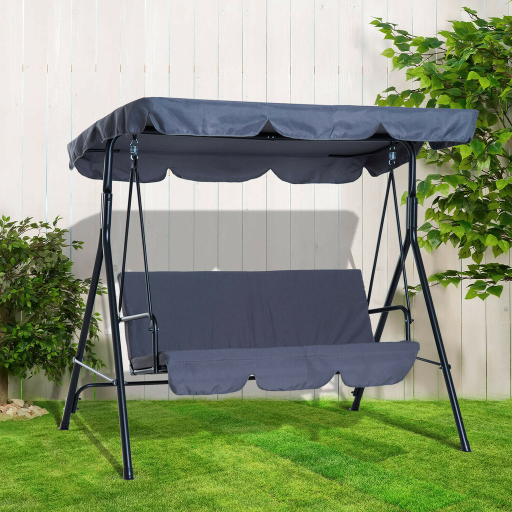 Garden Swing Hammock Swing Chair 3-Seater Patio Bench