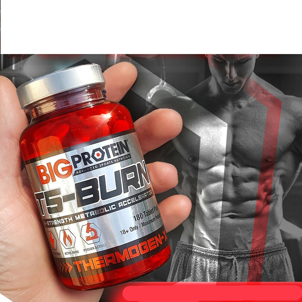 Big Protein Fat Burners | T5 Fat Burning Pills | 3+ Months Supply