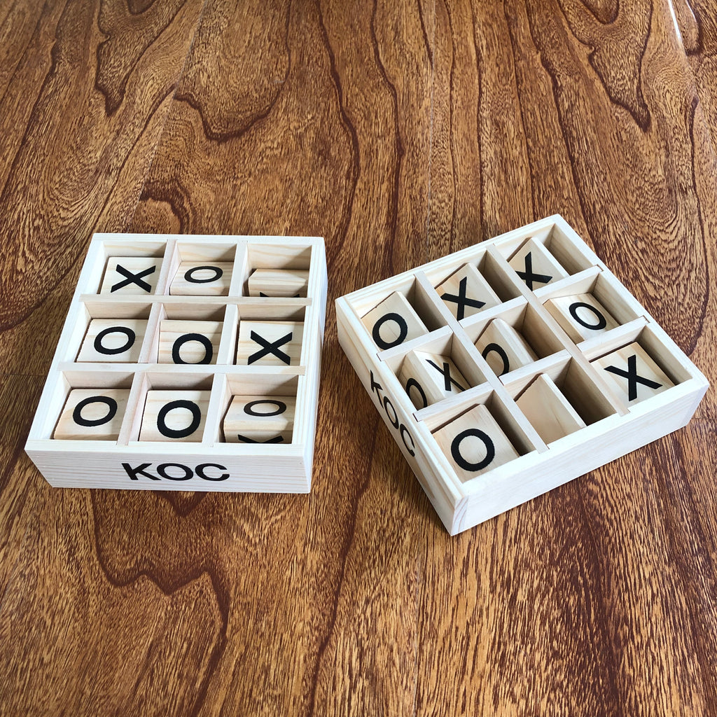 Tic Tac Toe Board - Wooden Tic Tac Toe