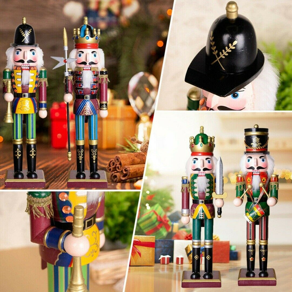 Christmas Nutcracker | Nutcracker Soldier 30 CM Wood Painted Christmas Nutcracker Decoration