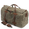 Image of Waterproof Waxed Canvas Duffel Handbag Weekend Bag