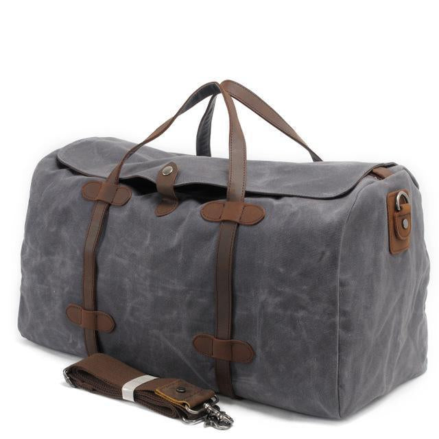 Waterproof Waxed Canvas Duffel Handbag Weekend Bag