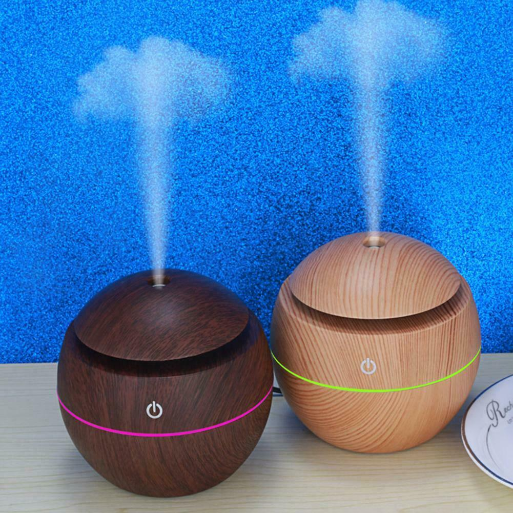 300 ml Essential Oil Aroma Diffuser With Dark and Light Wood Grain Light Wood Grain