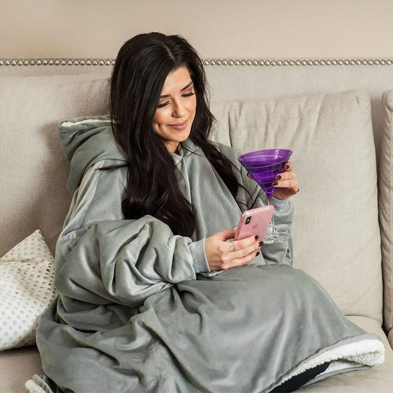 Oversized Blanket Sweatshirt For Adults & Children