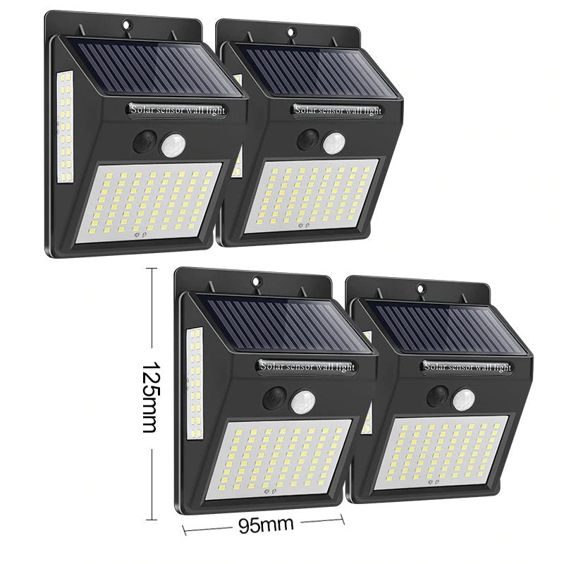 144 Leds Solar Light Security Motion Sense