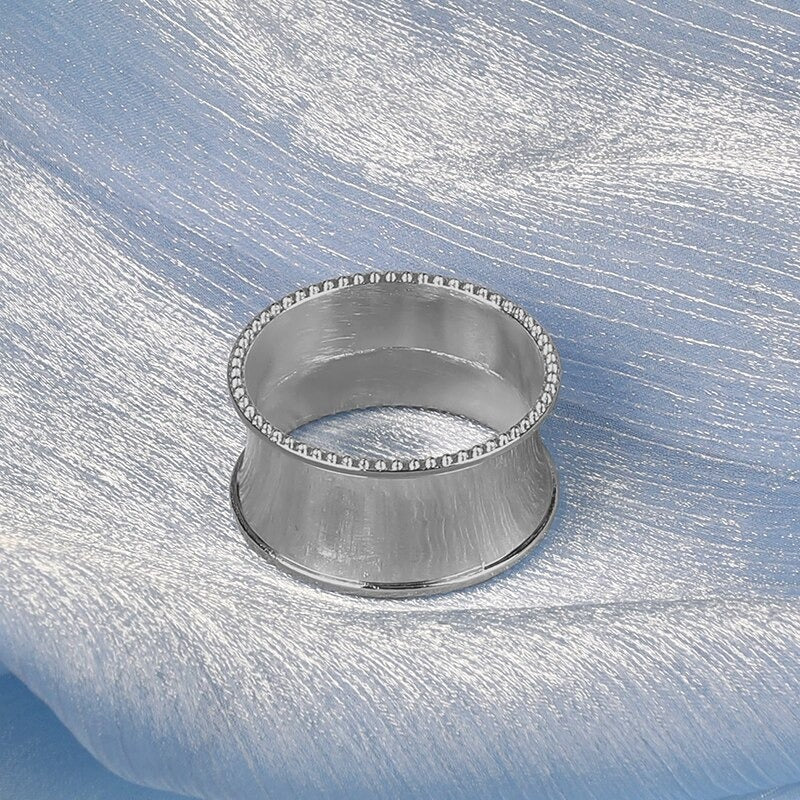 6 Pcs Silver Napkin Rings Sirviette Holders for Dinning