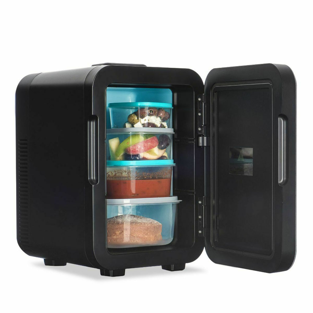 Black Tabletop Mini Freezer Fridge