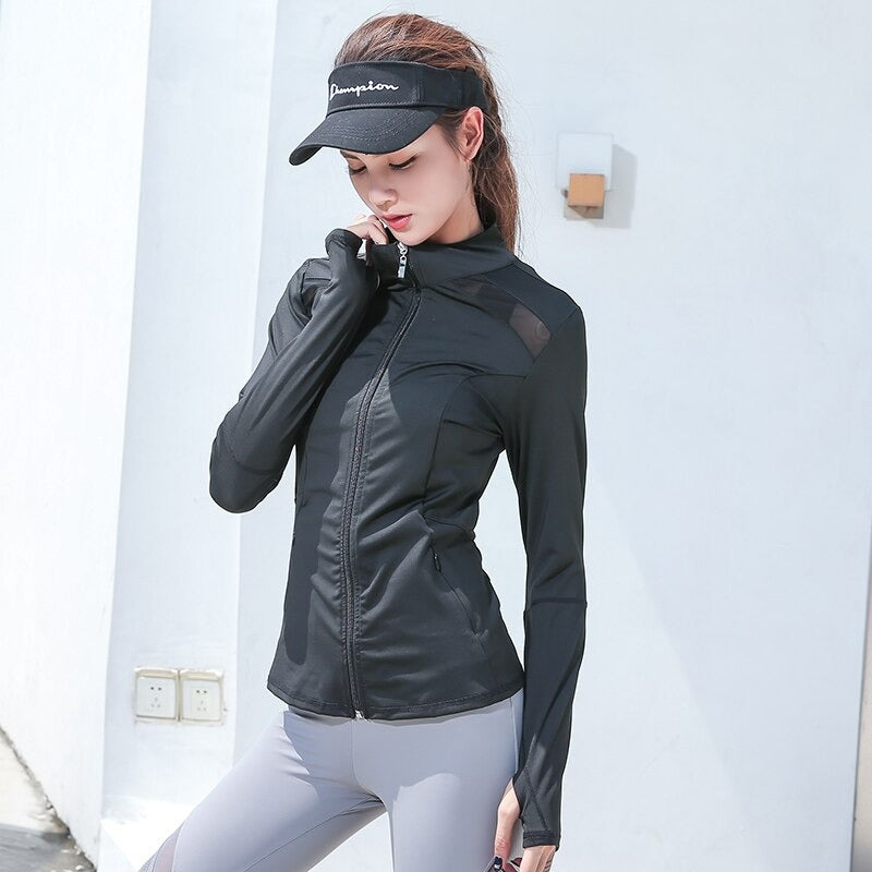 Mesh Splice Running Jacket Women