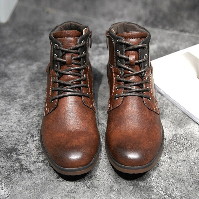 Brown Mens Lace Up Boots