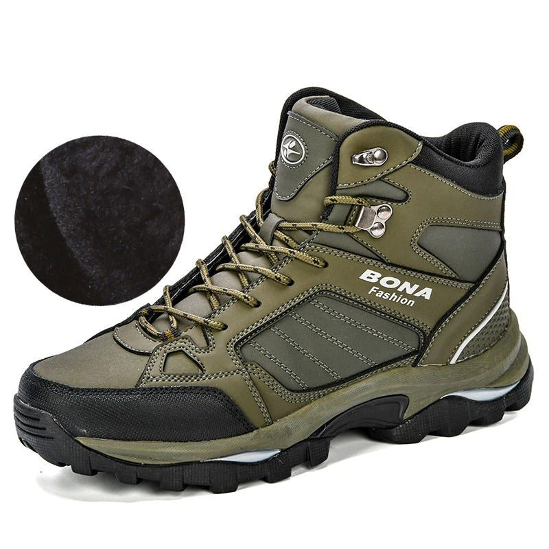 Men Walking Boots Anti-Skidding Leather Shoes for Men