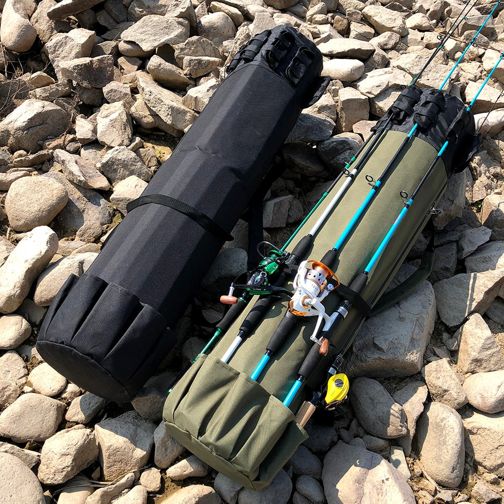 Fishing Backpack with Rod Holder