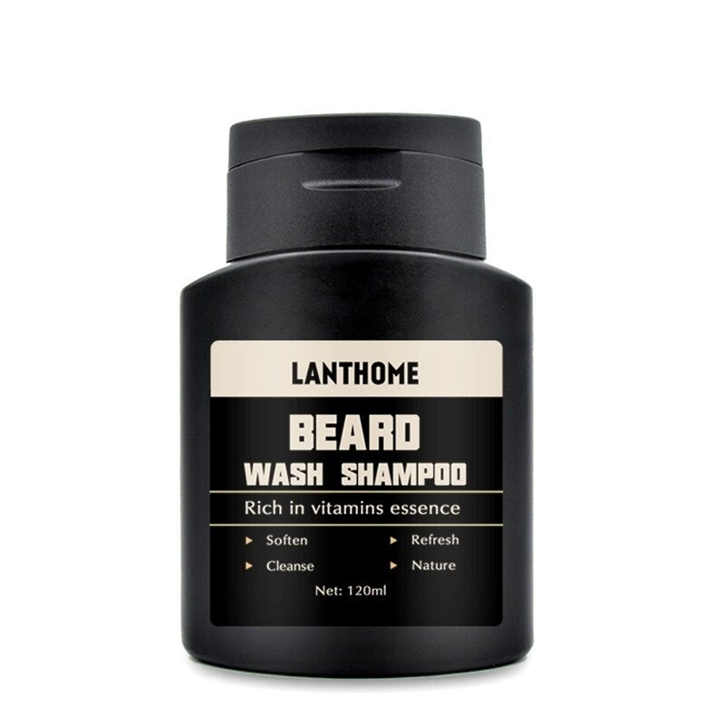 Men's Beard Shampoo Deep Cleansing Nourishing Beard Cleanser Moisturiser