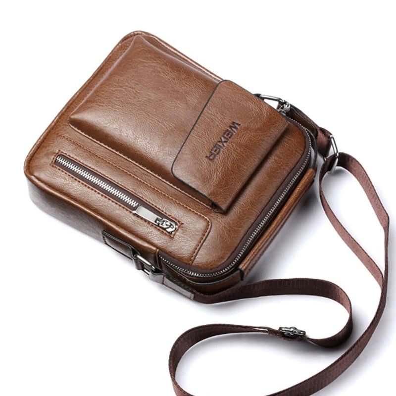 Men's Genuine Leather Sling Bag Body Bag For Men