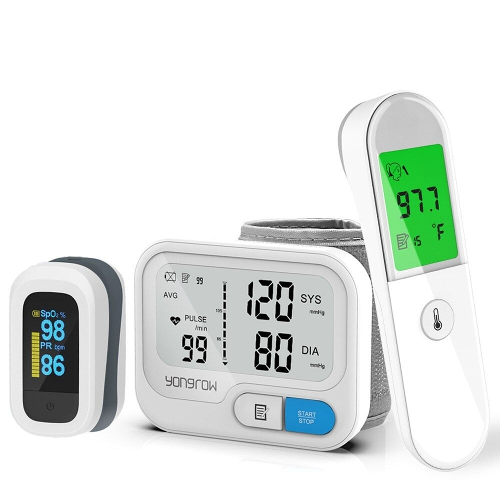 Health Pack | Blood Pressure Monitor + Oximeter + Thermometer