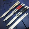 Image of Butterfly in Knife Stainless Steel Blade NO Sharp Metal Handle with Wooden Acrylic 3 Styles High Quality For CS go Free Shipping - Balma Home
