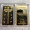 Image of Rare Ten Commandments Jesus Gold Bar