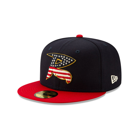 Richmond Flying Squirrels 2019 4th of July Stars and Stripes Cap