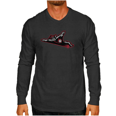 Richmond Flying Squirrels Primary Logo Long Sleeve